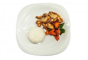 Рис с курицей в терияке