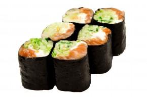 Рол без риса копченый лосось